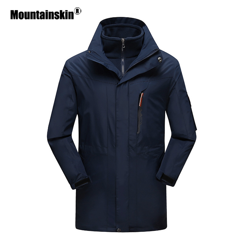 Mountainskin 3in1 Warm Winter Men s Softshell Fleece Windbreaker Outdoor Fishing Hiking Camping Tourism Male Jackets