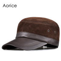 HL026 Genuine Leather Baseball Cap Hat Brand New Style Women Real Sheep Leather Caps Hats