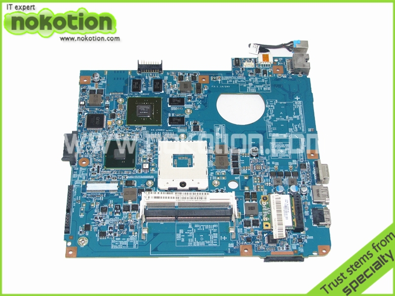 NOKOTION MBR7P01003 Laptop mothebroard For ACER 4741 4741G D730 NV49C MS2303 MS2306 48.4GY02.031 nvidia GeForce GT420M graphics nokotion laptop motherboard for acer 4741 4741g d730 nv49c ms2303 ms2306 mbr7p01003 48 4gy02 031 hm55 nvidia gt420 ddr3