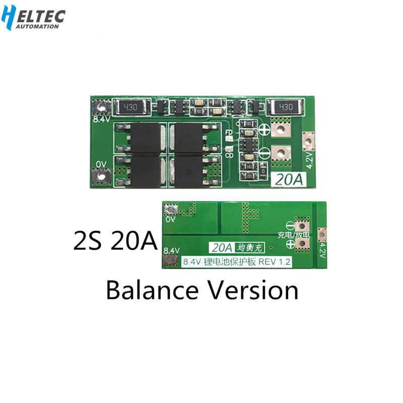 Balance Version BMS <font><b>2S</b></font> <font><b>20A</b></font> <font><b>7.4V</b></font> 8.4V 18650 BM Lithium battery protection board/BMS board image