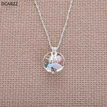 The Nightmare Before Christmas Jack and Sally Pendant Pearl Cage Silver Necklace Kids Jewelry Women Pearl Necklace Lovers Gift недорого