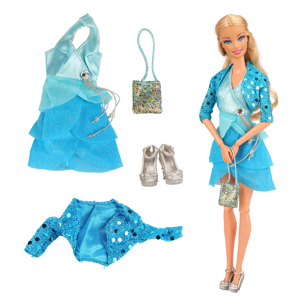 Newest Wholesale Handmade Accessories Clothes Dolls Shoes For Barbie Game Best New Year Christmas Gift Kids Toys DIY Presents