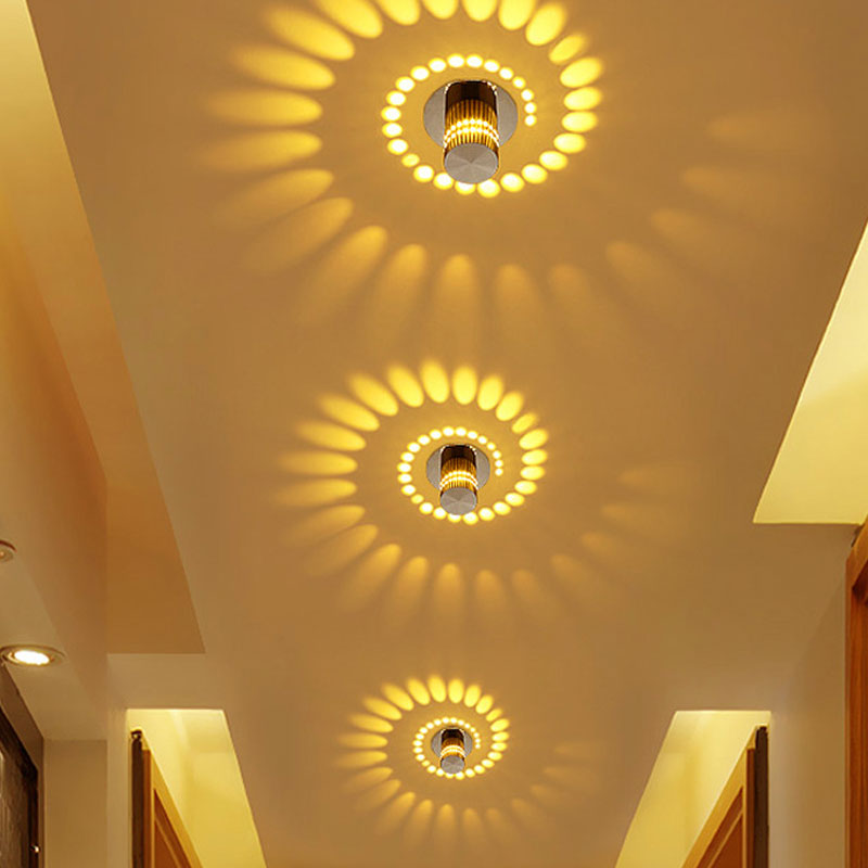 HTB1esvuB8mWBuNkSndVq6AsApXaG Decorative Lights | Fairy Lights | RGB Remote 3W 6W 9W 12W LED Ceiling Light RGB wall Sconce Art Gallery Decoration Front Balcony lamp Porch light corridors Light