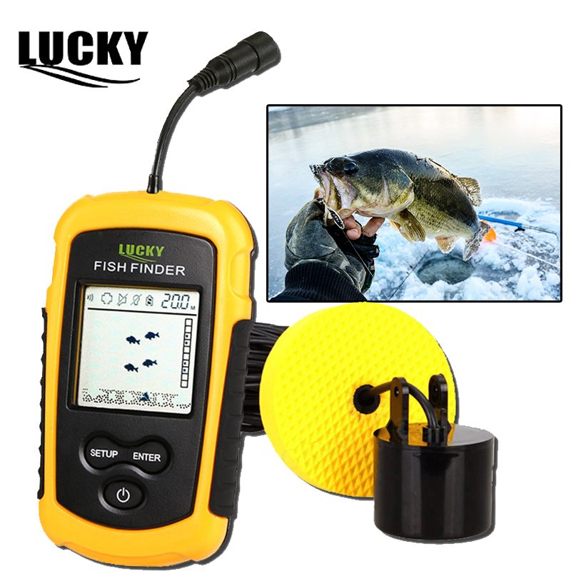 Lucky Fish Finder For Boat Fishing Sounder Ice Fishing Accessories Depth Finder Fishfinder Cable Sonar Sensor Echo FF1108-1