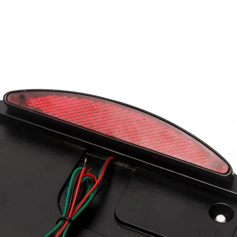 Triclicks Schwarz Chrom-seitenmontage Kennzeichenbeleuchtung LED ...