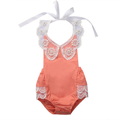 Newborn Infant Baby Girl Sequin Floral Backless Romper Jumpsuit Kids Toddler Girl Clothes Outfits Sunsuit Cotton Baby Onesie newborn infant baby girl clothes strap lace floral romper jumpsuit outfit summer cotton backless one pieces outfit baby onesie