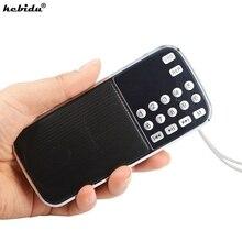 Kebidu Mini altavoz portátil con reproductor de Audio y MP3, L 088, microSD, TF, Radio FM, HIFI, linterna LED