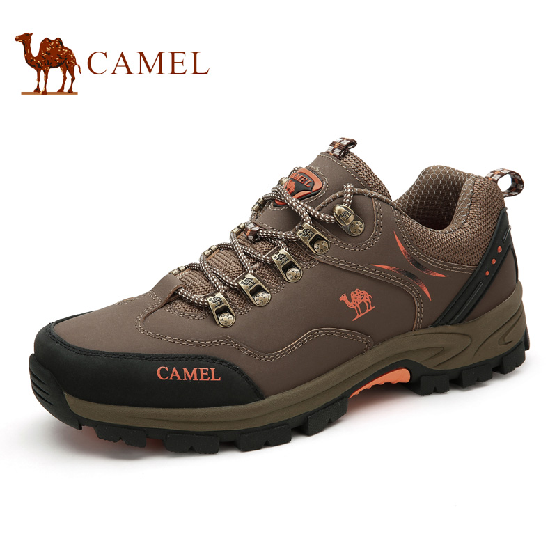 Camel Outdoor Men's Walking Shoes 2016 New Design Cow Split Leather Sport Shoe Male Sneaker A632330375 camel shoes 2016 women outdoor running shoes new design sport shoes a61397620