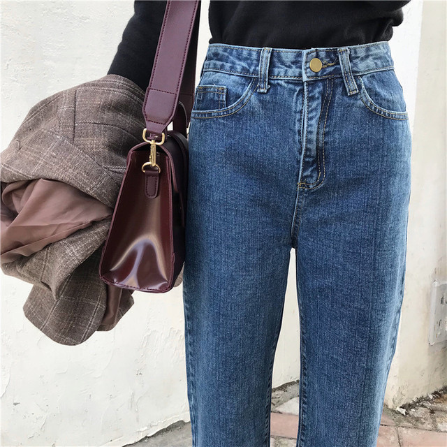 Jeans Denim Solid Tassel Lady Elegant Wide Leg Pant Ankle-length High Waist Womens Trousers Large Size Bottoms Basic Classic 5
