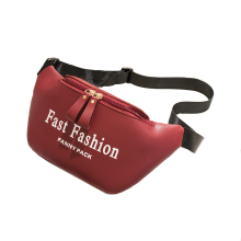 Brand Fashion Waterproof Women Waist Bags Wine Red Brown PU Lrather Fanny Pack Pink Black Letter Packs Chest Phone Pouch