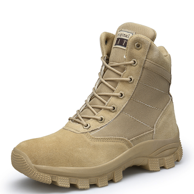 fccf55a4358 US $41.4 |Aliexpress.com : Buy Men's Cow Suede Military Tactical Boots  Police Duty Boots from Reliable Work & Safety Boots suppliers on  Shop3473045 ...