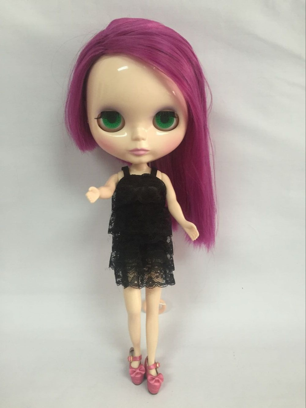 Free Shipping Cost Nude Blyth Doll,Purple Hai Factory Doll ,Suitable For Diy Change -2854