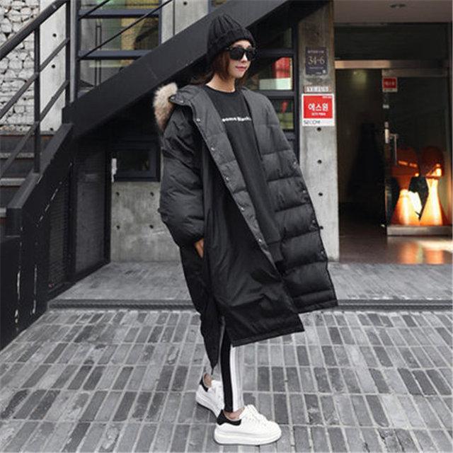 2018 для женщин; Большие размеры пальто более Размеры мода большой меховой воротник с капюшоном пальто женские Верхняя одежда теплые зимние к...