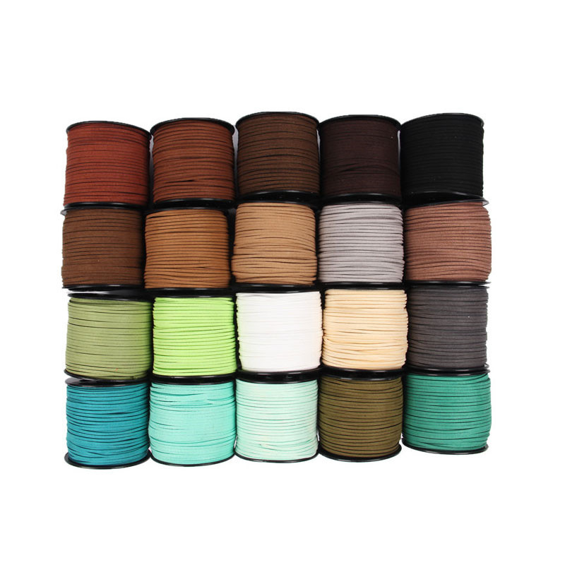 10m/lot 3mm Faux Suede Cord en cuir Fit Craft Necklace Bracelet Korean Velvet Rope Thread Cords for Jewelry Making Findings10m/lot 3mm Faux Suede Cord en cuir Fit Craft Necklace Bracelet Korean Velvet Rope Thread Cords for Jewelry Making Findings