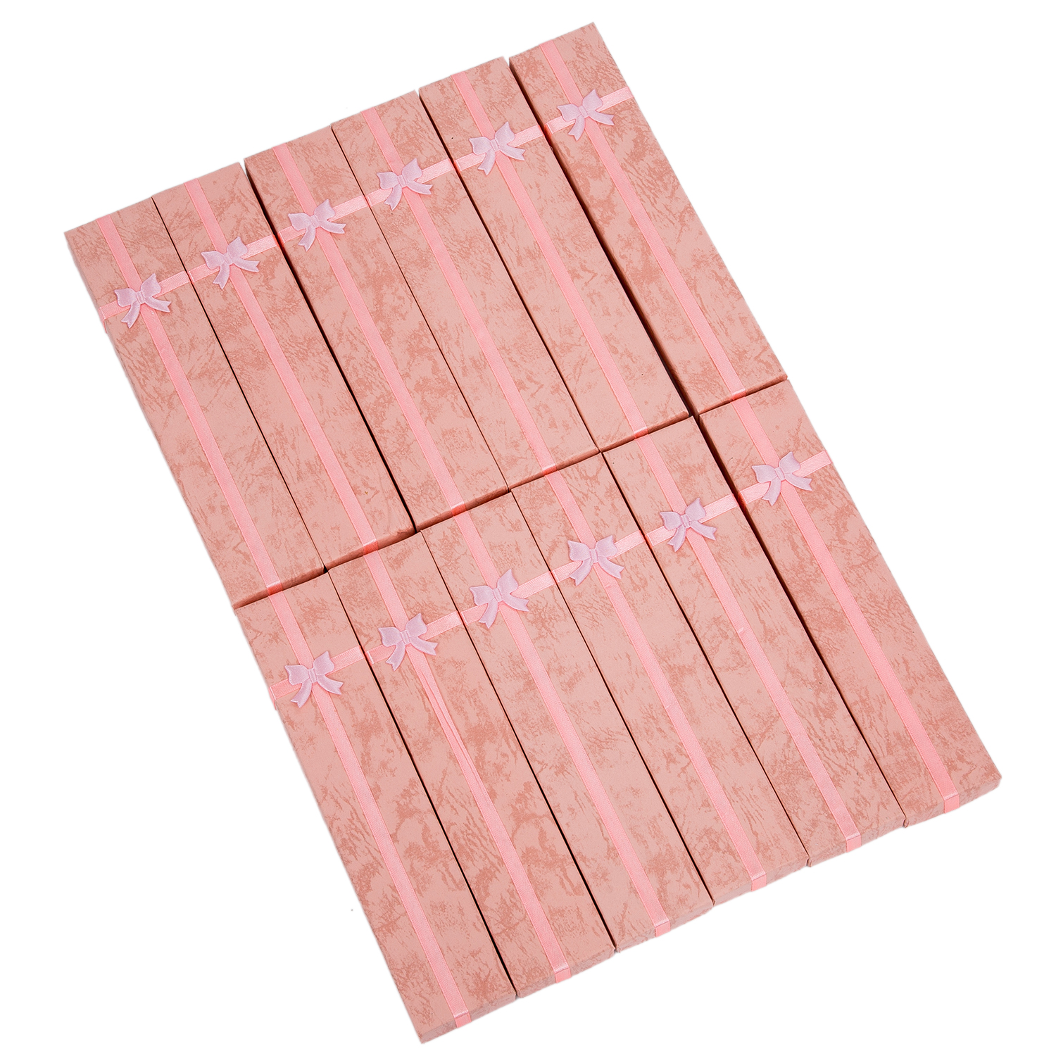 SAF-12 X Pink Long Luxury Card Jewelry Gift Boxes Watch Display Box Pendant Necklace