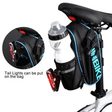 INBIKE Bicycle Saddle Bag With Water Bottle Pocket Waterproof MTB Bike Rear Bags Cycling Rear Seat
