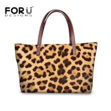 FORUDESIGNS New Fashion Women Messenger Bags 3D Leopard Animal Pattern Tote Cross-body Bag for Female Big Capacity Shoulder Bags