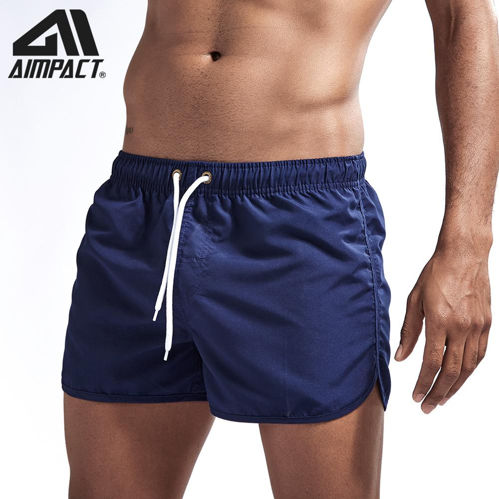 Aimpact Men's Quick Dry   Board     Shorts   Summer Holiday Solid Split Beach Surf Swimming Trunks Hybrid Sport   Shorts   for Man AM2165
