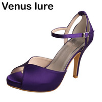 Womens Purple Heeled Sandals Brand Name Evening Party Shoes High Heeled Summer Shoes
