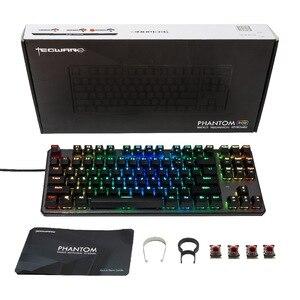 Image 5 - Clavier mécanique TECWARE Phantom 87, LED RGB, interrupteur bleu Outemu, commutateurs supplémentaires fournis, Excellent pour les Gamers