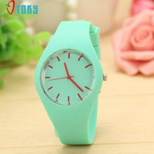 Excellent Quality Watches Women Sports Candy Colored Jelly Silicone Strap Leisure Watch Relojes Mujer Relogio Masculino