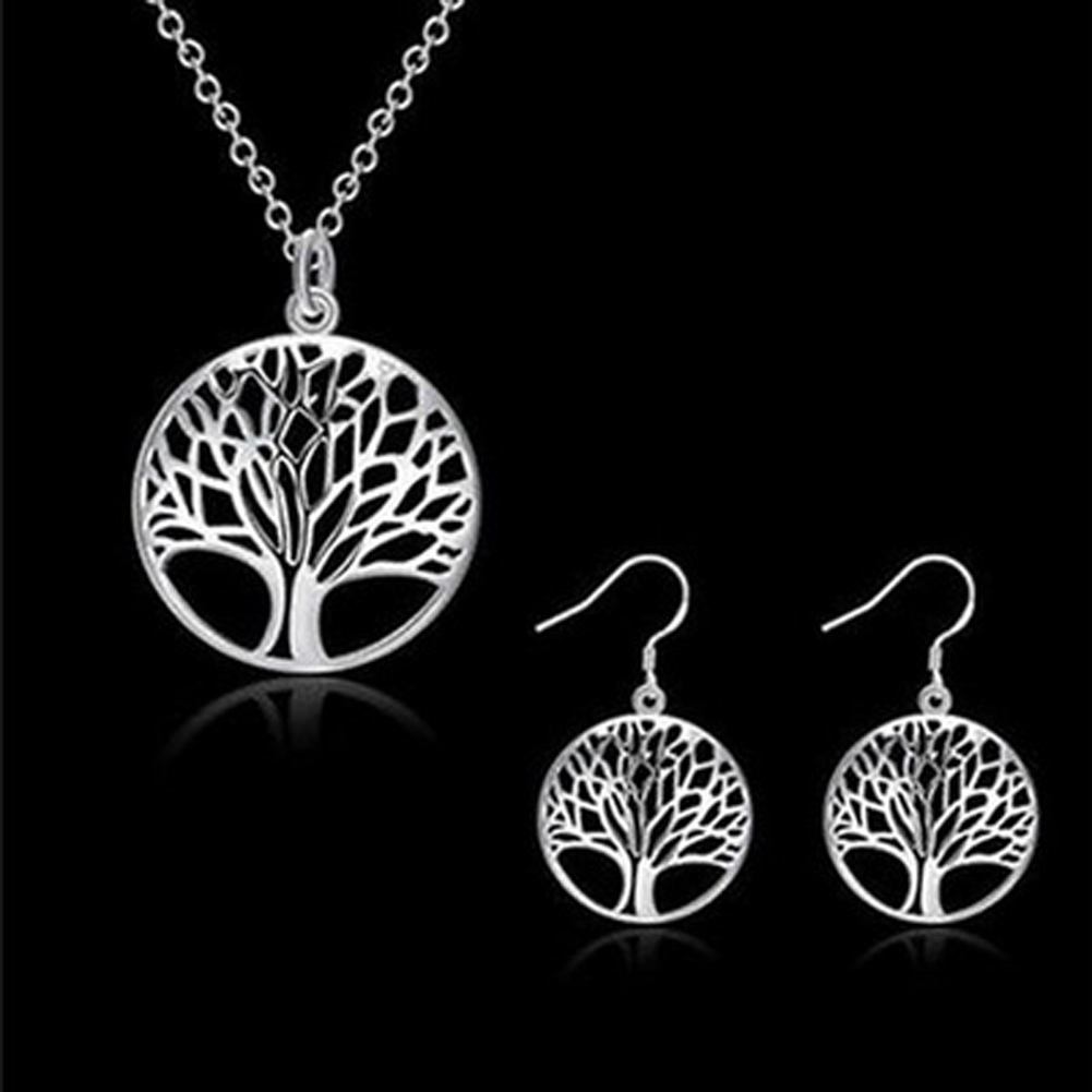 Necklace Earring Stylish Jewelry Set Special Handmade  Original Item Accessory Gift Supplies Tree Of Life Faddish