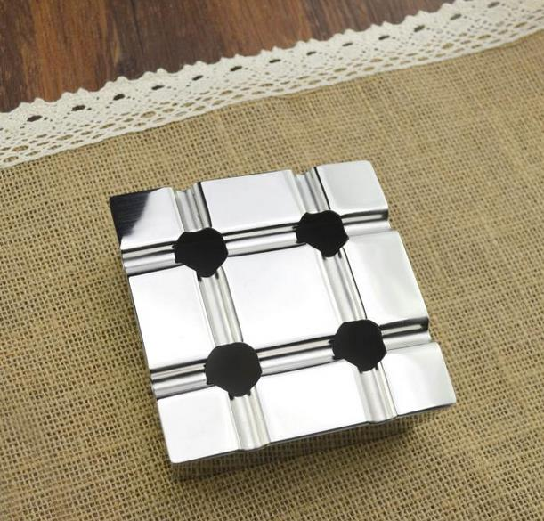 Household Merchandises Lighters Smoking Accessories Ashtrays Stainless steel wind car ashtray free shipping
