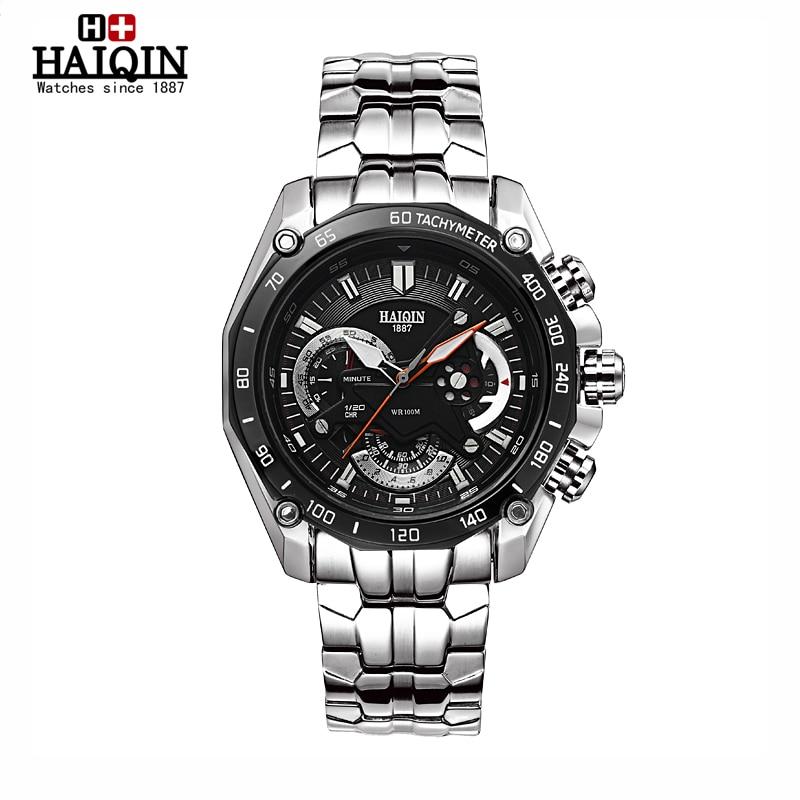 HAIQIN 2016 new mens font b watches b font top brand luxury multifunction sport waterproof metal
