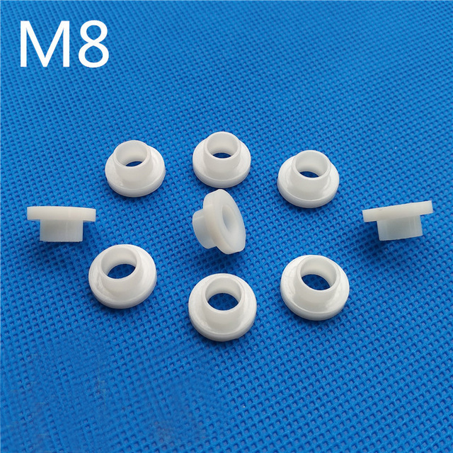 30Pcs M8 Nylon Washer step T type plastic Washer Insulated Crystal ...