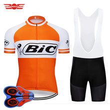 2019 оранжевый Велоспорт 9D гелевый набор MTB Джерси велосипедная одежда быстросохнущая велосипедная одежда BIC одежда Мужская короткая Майо кулот