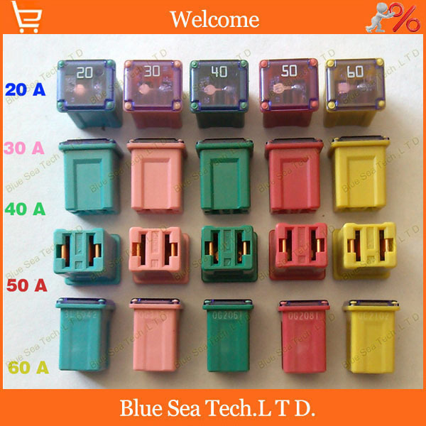 5 Models 5pcs 20a To 60a Original Rectangle Small Type Auto Fuse Automobile Fuses For Honda