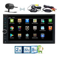 GPS navigation 2 din car pc tablet navigation car audio audoradio Android 7.1 FM/AM /3G/4G/OBD2/USB/SD wireless back up camera