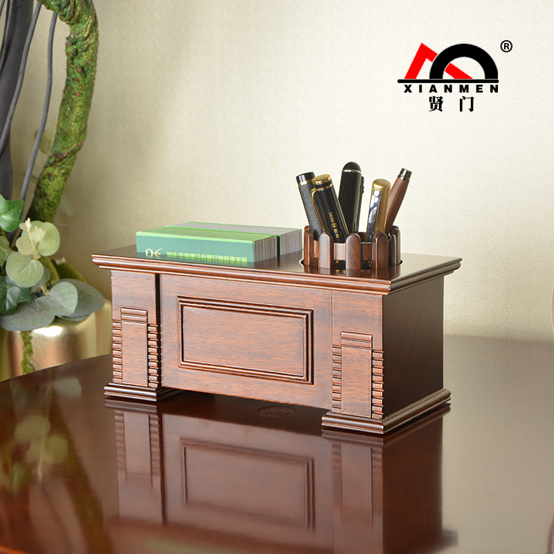 XIANMEN Pen Holder New Design Wooden Pencil Container Desktop Pen Pot Desk Organizer Creative Office Accessories