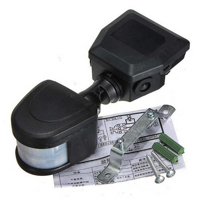 Горячая Распродажа водостойкий Регулируемый 12 м светодиодный Автоматический Инфракрасный охранный модуль движения PIR сенсор переключатель детектор настенное крепление Открытый