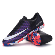 2017 New Turf Futsal Soccer Shoes for men Cheap Indoor Football Boots Professional TF Soccer Boots Nails Cleats Sneakers Trainer