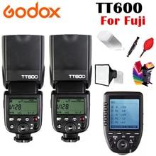 цена на 2 pcs Godox TT600 TT600S 2.4G Wireless Camera Flash Speedlite + Xpro-N/C/S/F/O Transmitter for Nikon Canon Sony Fujifilm Olympus