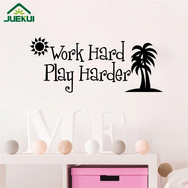 Aliexpress.com : Buy Work Hard Play Harder Quotes Wall Sticker Kids  Playroom Wall Decor Vinyl Art Murals Vinilos Decorativos Para Paredes J28  From Reliable ... Part 54