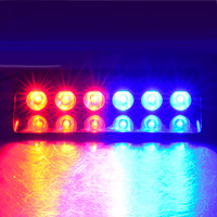 6LED 6W Windshield Led Strobe Light Car Flash Signal Emergency Fireman Police Beacon Warning Light Red