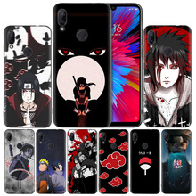 Sasuke Naruto Black Silicone Case Cover for Xiaomi Mi 9 8 Play A1 A2 Redmi Note 7 6 6A 5 Plus S2 GO Lite Pro Pocophone F1 Coque стоимость