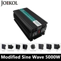Высокого Поу 5000 Вт изменение синусоидальный инвертор, DC12V/24 В/48 В к AC110V/220 В, решетки солнечных инвертор, преобразователь напряжения