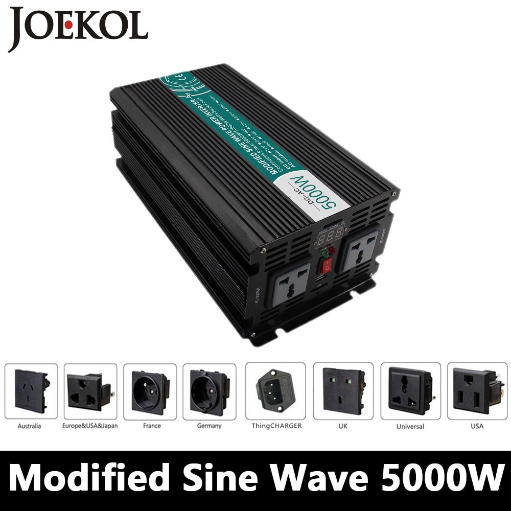 High-powe 5000W Modified Sine Wave Inverter,DC12V/24V/48V To AC110V/220V,off Grid Solar Invertor,voltage Converter high powe 6000w pure sine wave inverter dc12v 24v 48v to ac110v 220v off grid solar inverter voltage converter work with battery