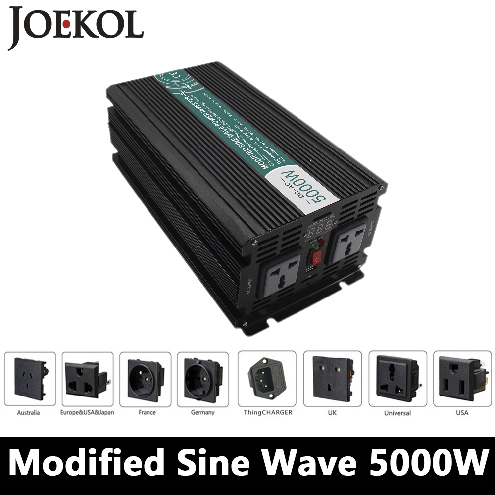 High-powe 5000W Modified Sine Wave Inverter,DC12V/24V/48V To AC110V/220V,off Grid Solar Invertor,voltage Converter 5000w dc 48v to ac 110v charger modified sine wave iverter ied digitai dispiay ce rohs china 5000 481g c ups