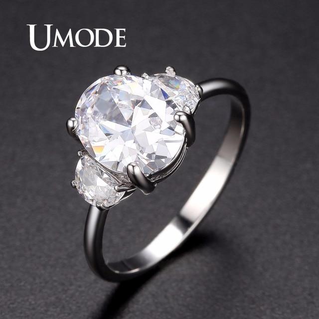 Umode Modern Korean Wedding Rings For Women Female Fashionable