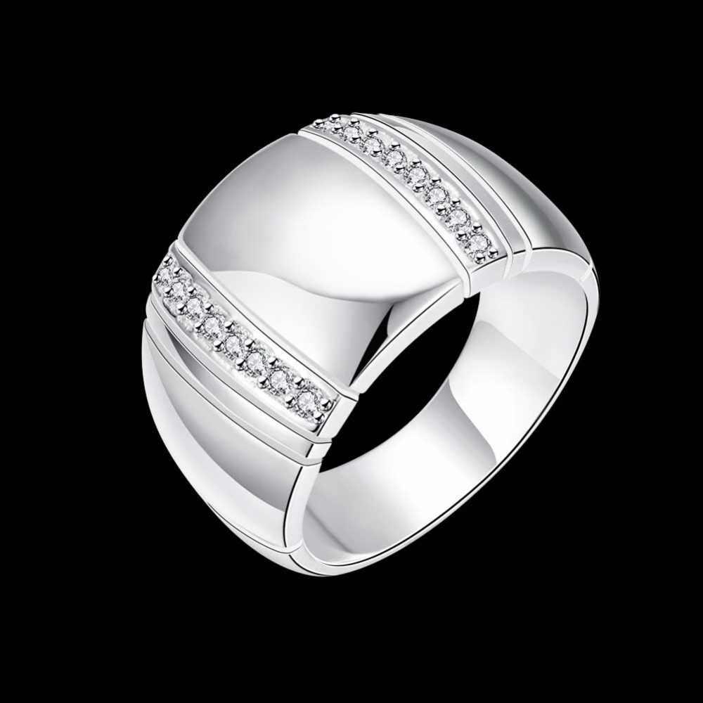 100% 925 en argent Sterling femme homme bague CZ cristal de mariage fiançailles en gros mode bagues Fine bijoux