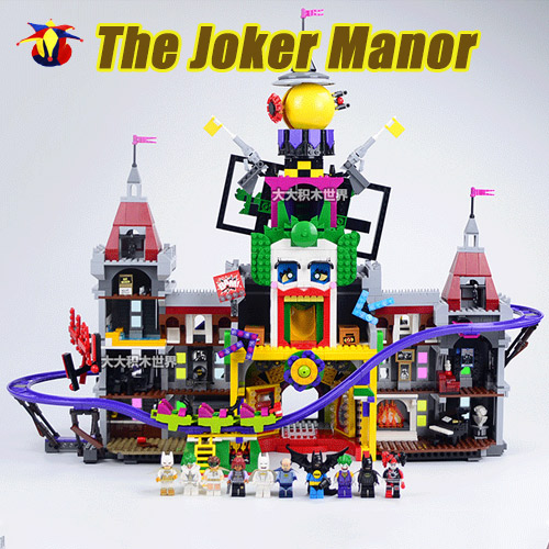 hot sale 3857pcs super hero series the joker s manor. Black Bedroom Furniture Sets. Home Design Ideas