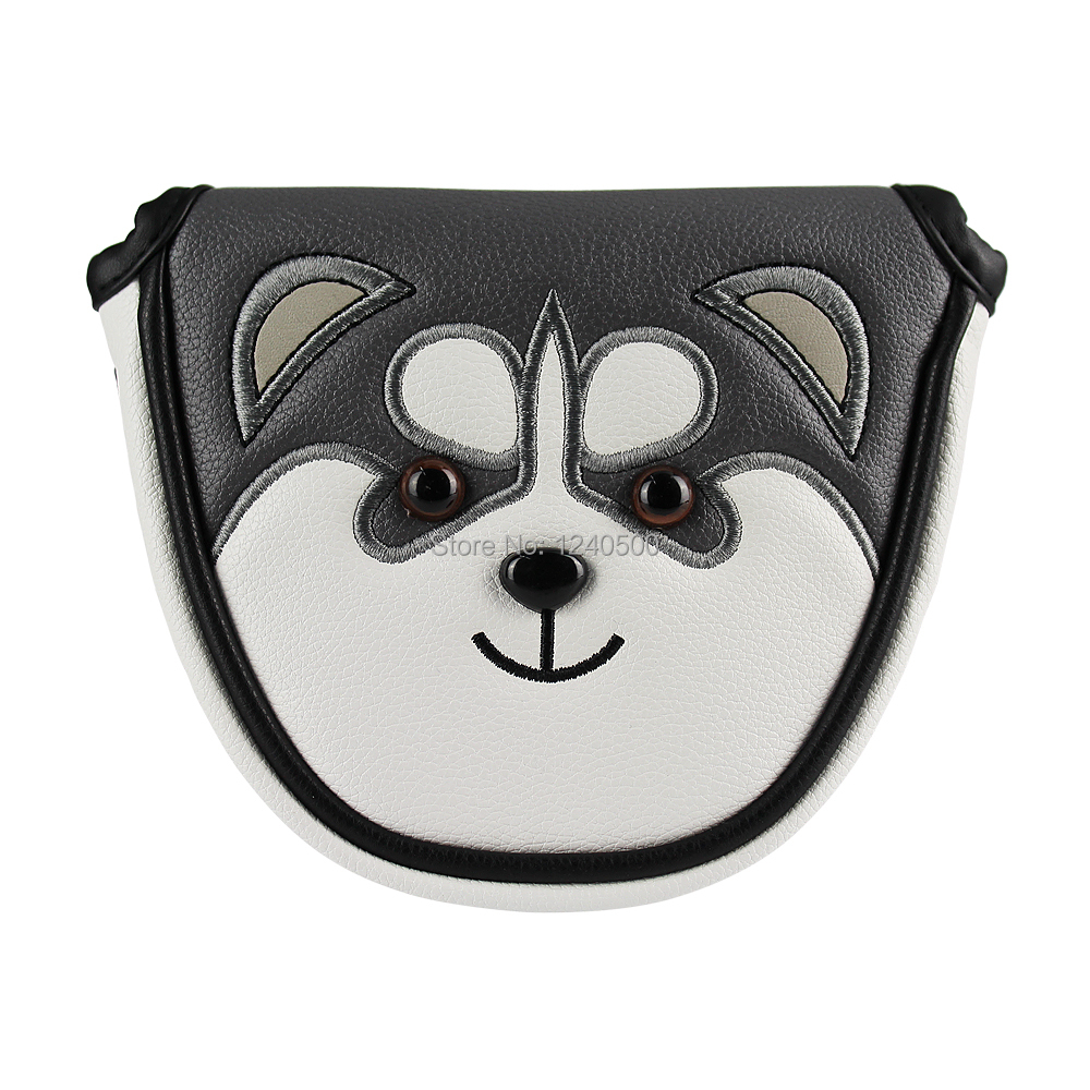 Golf Putter Cover Mallet Cute Puppy Golf Headcover For Putter Magnetic Closure Synthetic Leather Drop Ship