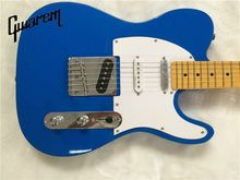 лучшая цена Electric guitar/Gwarem luck star tele guitar/blue color/3 pickups/guitar in china