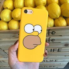SZYHOME Phone Cases For iPhone 5 5s SE 6 6s 7 Plus Case Funny Cartoon Yellow Plastic For Apple iPhone 7 Mobile Phone Cover Case