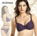 Grande Marca ACOUSMA mulheres underwear bra set sexy Bordado roxo conjunto calcinha e sutiã sets bra push up bras BS272