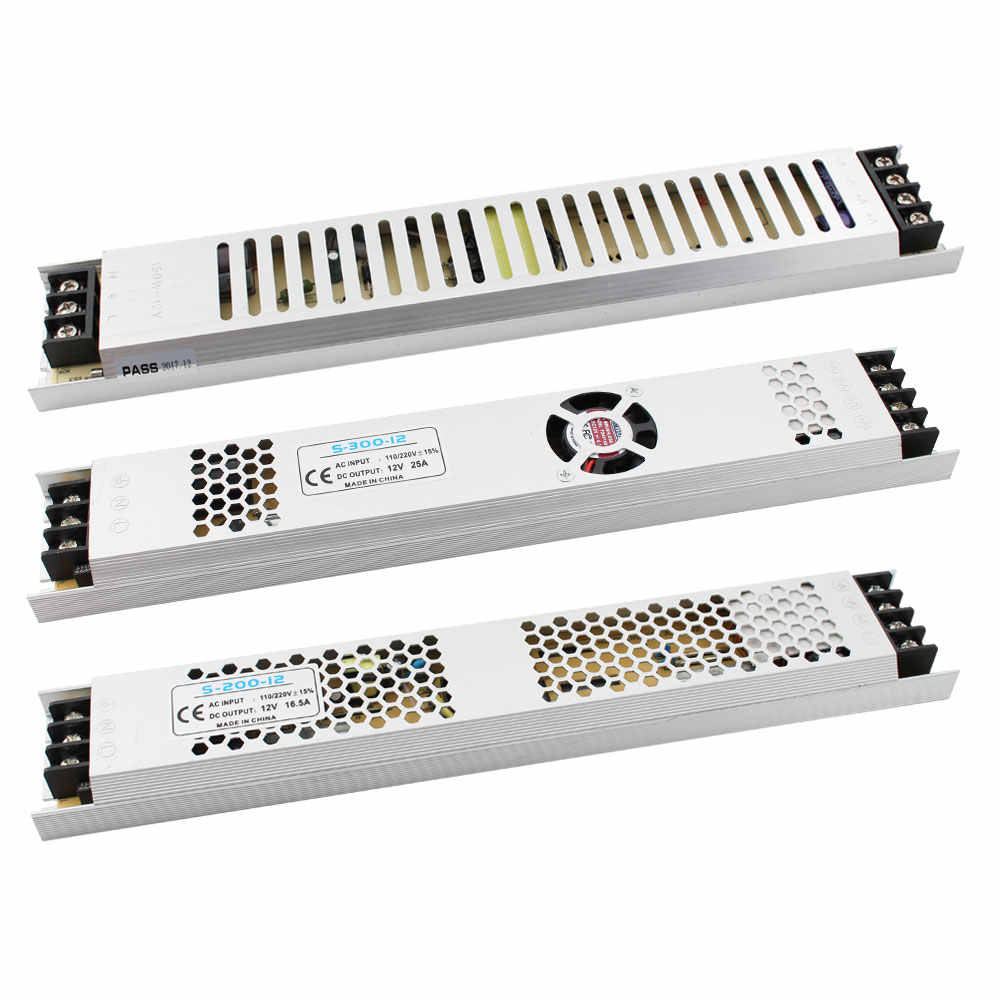Ultra Thin LED AC Power Supply DC 12V Lighting Transformers DC12V 60W 100W 150W 200W 300W 220V DC Power Supply For LED Strips